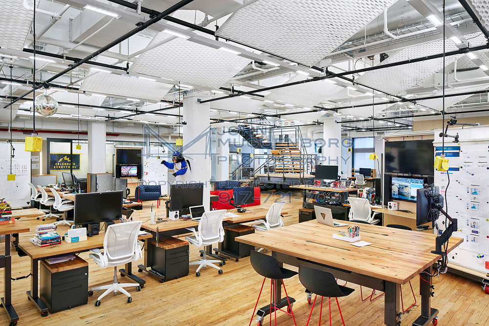 The offices of a technology firm in NYC. Designed by SITU Studio and photographed by John Muggenborg.