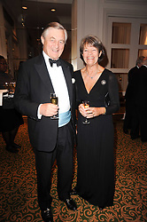 SIR MICHAEL & LADY MARSHALL he is Chairman of the Marshall Group at a gala dinner in celebration of 80 years since the first Foyles Literary Luncheon, held in The Ball Room, Grosvenor House Hotel, Park Lane, London on 21st October 2010.