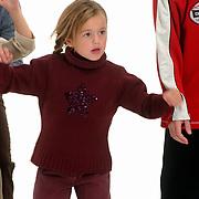 Opname commercial C&A / cliniclowns, kinderen, Demi, dochter Ronald de Boer