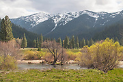 Indian Creek, Meadows and Grizzly Ridge, Genesee Valley Ranch, Grizzly Peak, Willows, California Ranches, Snowy Mountains, Spring Snow, Sierra Nevada Mountains