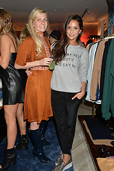 Left to right, MADDIE CHESTERTON Director of Baar & Bass and ROXIE NAFOUSI at a party to celebrate the launch of Baar & Bass, 336 Kings Road, London on 9th September 2014.