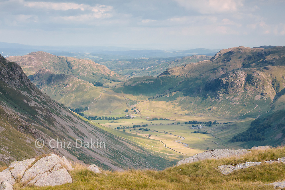 View into Langstrath from Rossett Pike