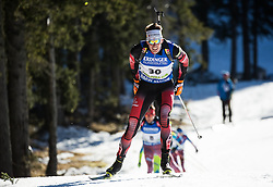Julian Eberhard (AUT)  during Men 15 km Mass Start at day 4 of IBU Biathlon World Cup 2015/16 Pokljuka, on December 20, 2015 in Rudno polje, Pokljuka, Slovenia. Photo by Vid Ponikvar / Sportida