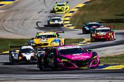 October 15-17, 2020. IMSA Weathertech Petit Le Mans: #86 Meyer Shank Racing w/Curb-Agajanian, Acura NSX GT3, GTD:)Mario Farnbacher, Matt McMurry, Shinya Michimi