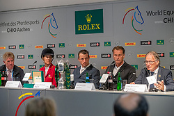 Diniz Luciana, POR, Wathelet Gregory, BEL, Houtzager Marc, NED<br /> CHIO Aachen 2017<br /> © Hippo Foto - Dirk Caremans
