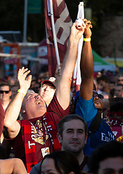 Oct 21, 2019; Sacramento, CA, USA; Fans vie for free merchandise tossed into the crowd at a celebration event for the new Sacramento Republic FC MLS soccer team at Capital Mall. Mandatory Credit: D. Ross Cameron-USA TODAY Sports