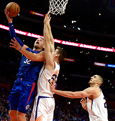 October 21, 2017 - Los Angeles, California, U.S. - Los Angeles Clippers forward Blake Griffin (32) drives to the basket against the Phoenix Suns in the second half during an NBA basketball game at the Staples Center on Saturday, Oct 21, 2017 in Los Angeles. .(Photo by Keith Birmingham, Pasadena Star-News/SCNG) (Credit Image: © San Gabriel Valley Tribune via ZUMA Wire)