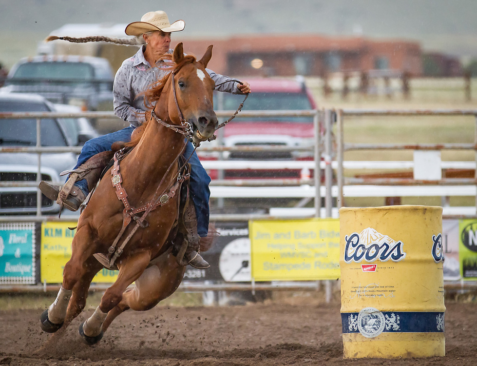 Barrel racing at the 71st annual Westcliffe Stampede Rodeo.