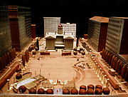 CS00254-109.  Will Martin's architectural scale models of Pioneer Square. 1972 – 1974