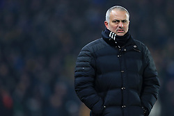 26th January 2017 - EFL Cup (Semi-Final) - Hull City v Manchester United - Man Utd manager Jose Mourinho looks dejected - Photo: Simon Stacpoole / Offside.