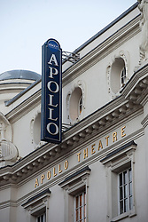 © Licensed to London News Pictures.20/11/2013. London, UK. General view of the Apollo Theatre . Seventy-six people injured, seven seriously hurt after the roof of the Apollo collapsed yesterday, on the 19th of December.Photo credit : Peter Kollanyi/LNP