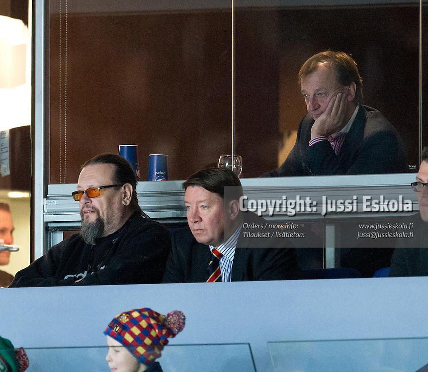 Hjallis Harkimo, Jari Kurri, Markus Selin. Jokerit - HIFK. SM-liiga. 29.11.2013. Photo: Jussi Eskola