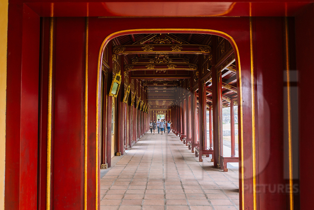 Tourist visit the old Imperial city of Hue, Vietnam, Southeast Asia
