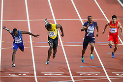 London, 2017 August 05. Usain Bolt bows out from a glittering career in third place in the Men's 100m final at the IAAF World Championships London 2017. © Paul Davey.