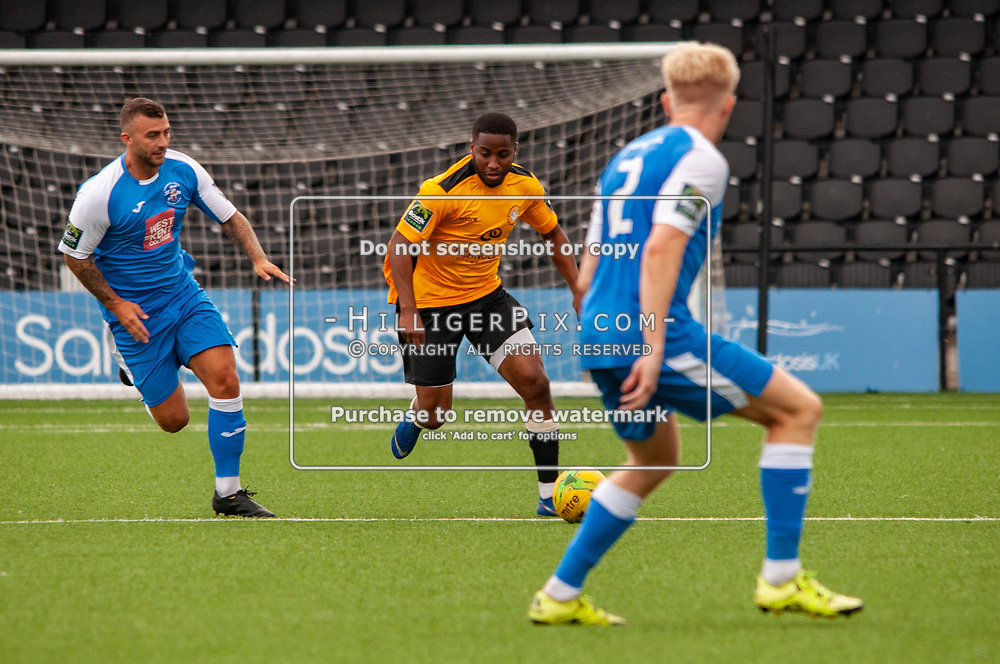 BROMLEY, UK - JULY 13: Pre-season friendly match between Cray Wanderers FC and Tonbridge Angels FC at Hayes Lane on July 13, 2019 in Bromley, UK. <br /> (Photo: Jon Hilliger)