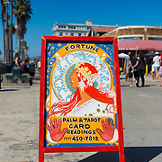 Palm & tarot card readings, fortune teller on Venice boardwalk, Los Angeles