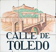 Ceramic street sign in Madrid, Spain Calle de Toledo