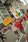 Members of Asian Pride in the 2011 Pride Parade on New York's Fifth Avenue.
