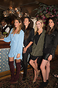 LAURA PRADELSKA,; LEILA BARTELL; NOELLE RENO; SASHA BROWNspotted at Bloom & Wild's exclusive event at 5 Hertford Street last night. 5 September 2017. The event was announcing the new partnership between the UK's most loved florist, Bloom & Wild and British floral design icon Nikki Tibbles Wild at Heart. Cocooned in swaths of vibrant Autumn blooms, guests enjoyed floral-inspired cocktails from Sipsmith and bubbles from Chandon, with canapés put on by 5 Hertford Street. Three limited edition bouquets from the partnership can be bought through Bloom & Wild's website from the 1st September.  bloomandwild.com/WAH