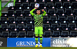 Nicky Cadden of Forest Green Rovers takes a throw in- Mandatory by-line: Nizaam Jones/JMP - 27/02/2021 - FOOTBALL - The innocent New Lawn Stadium - Nailsworth, England - Forest Green Rovers v Colchester United - Sky Bet League Two