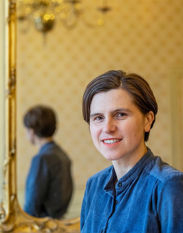 Netherlands. Amsterdam, 27-02-2020. Photo: Patrick Post.  Portrait of Judith Schalansky.