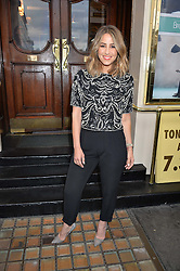 RACHEL STEVENS at the opening night of Breakfast at Tiffany's at The Theatre Royal, Haymarket, London on 26th July 2016.