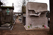 """Oscar Wilde's Lipstick-Covered Tomb in Paris<br /> <br /> The memorial of the famous 19th century Irish writer and poet, Oscar Wilde, lies in a cemetery in Paris. Chiseled out of a 20-tonne block of stone, the tomb features a winged figure resembling the Sphinx on a forward flight with vertically outstretched wings, and is supposed to be based on Wilde's poem The Sphinx and inspired by the British Museum's Assyrian figures. For years, female fans have visited the huge memorial in Paris's largest cemetery Pére Lachaise to pay homage to the Irish playwright and left their mark in red lipstick. Over thousands of lipstick kisses and graffiti messages cover the bottom half of the tomb.<br /> <br /> The practice started in the late 1990s, when somebody decided to leave a lipstick kiss on the tomb. Since then lipstick kisses and hearts have been joined by a rash of red graffiti containing expressions of love, such as: """"Wilde child we remember you"""", """"Keep looking at the stars"""" and """"Real beauty ends where intellect begins"""". Kissing Oscar's tomb on the Paris tourist circuit has become a cult pastime.<br /> ©Ann Erling Gofus/Exclusivepix"""