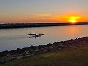 Sunset Canoeing in Dana Point Harbor