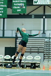 26 August 2017: Emily Steininger  during the green-white scrimmage of the Illinois Wesleyan Titans in Shirk Center, Bloomington IL