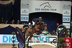 Krieg Niklas, (GER), Carella<br /> DKB-Riders Tour<br /> Grand Prix Kreditbank Jumping München 2015<br /> © Hippo Foto - Stefan Lafrentz