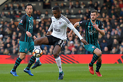 January 6, 2018 - Fulham, England, United Kingdom - Fulham defender Ryan Sessegnon gains control during FA Cup 3rd Round match between Fulham against Southampton  at Craven Cottage Stadium, London England on 06 Jan 2018. (Credit Image: © Kieran Galvin/NurPhoto via ZUMA Press)