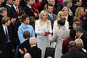 Tiffany Trump is presented with the two Bibles that will be used to swear-in her father President-elect Donald Trump at the President Inaugural Ceremony on Capitol Hill January 20, 2017 in Washington, DC. Donald Trump became the 45th President of the United States in the ceremony.
