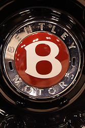 09 February 2017: Bentley wheel badge<br /> <br /> First staged in 1901, the Chicago Auto Show is the largest auto show in North America and has been held more times than any other auto exposition on the continent.  It has been  presented by the Chicago Automobile Trade Association (CATA) since 1935.  It is held at McCormick Place, Chicago Illinois<br /> #CAS17