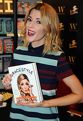 """© Licensed to London News Pictures. 20/02/2016<br /> <br /> Grace Helbig Comedian,actress,author and YouTube personality at Waterstones book store Bluewater,Greenhithe,Kent to meet hundreds of fans who have come to buy her new book  """"Grace&Style"""".<br />  <br />  (Byline:Grant FalveyLNP)"""