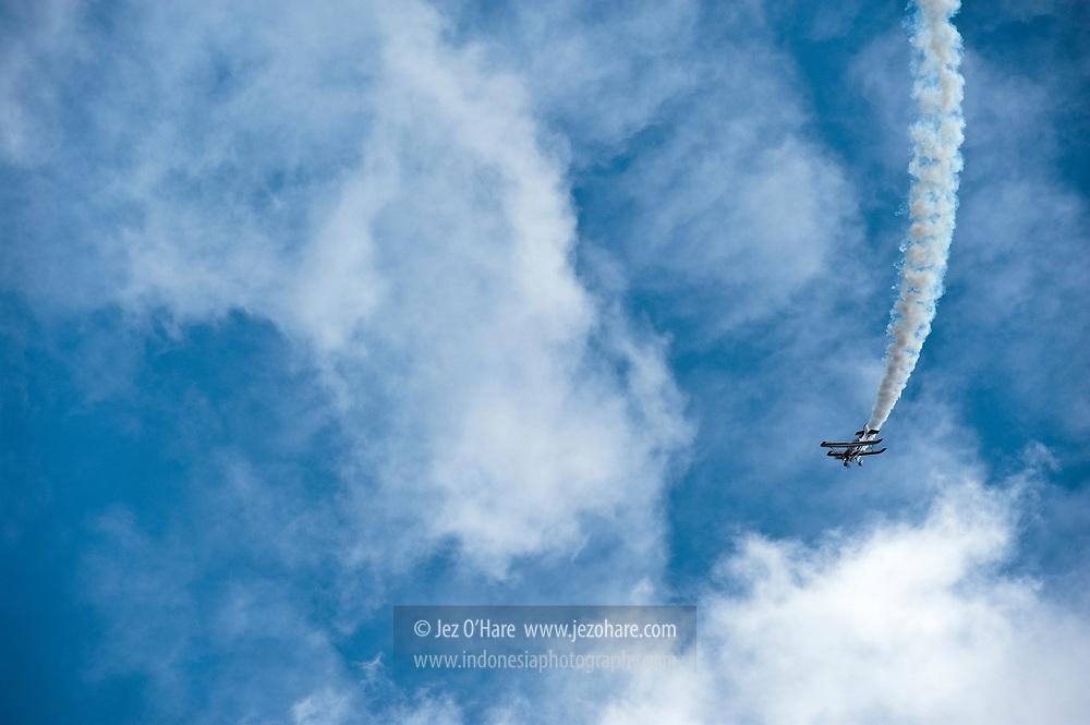 Aerobatic show by Marsekal Eris Herryanto at Lanud Sulaiman, Bandung, Indonesia