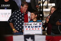 October 27, 2016 - Toledo, Ohio, United States - A child holds a sign during a campaign rally at SeaGate Center in Toledo, Ohio, United States on October 27, 2016. (Credit Image: © Emily Molli/NurPhoto via ZUMA Press)