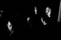 """PALERMO, ITALY - 19 FEBRUARY 2013: Outgoing Prime Minister of Italy Mario Monti (69), running in the 2013 Italian General Elections with the centrist party """"Civic Choice, Mario Monti for Italy"""", during a convention at the Politeama Theatre in Palermo, Italy, on February 19, 2013.<br /> <br /> A general election to determine the 630 members of the Chamber of Deputies and the 315 elective members of the Senate, the two houses of the Italian parliament, will take place on 24–25 February 2013. The main candidates running for Prime Minister are Pierluigi Bersani (leader of the centre-left coalition """"Italy. Common Good""""), former PM Mario Monti (leader of the centrist coalition """"With Monti for Italy"""") and former PM Silvio Berlusconi (leader of the centre-right coalition).<br /> <br /> ###<br /> <br /> PALERMO, ITALIA - 19 FEBBRAIO 2013: Il premier uscente Mario Monti, candidato alle elezioni politiche con la lista """"Scelta Civila, Mario Monti per l'Italia"""", durante una convention al Teatro Politeama a Palermo, il 19 febbraio 2013.<br /> <br /> Le elezioni politiche italiane del 2013 per il rinnovo dei due rami del Parlamento italiano – la Camera dei deputati e il Senato della Repubblica – si terranno domenica 24 e lunedì 25 febbraio 2013 a seguito dello scioglimento anticipato delle Camere avvenuto il 22 dicembre 2012, quattro mesi prima della conclusione naturale della XVI Legislatura. I principali candidate per la Presidenza del Consiglio sono Pierluigi Bersani (leader della coalizione di centro-sinistra """"Italia. Bene Comune""""), il premier uscente Mario Monti (leader della coalizione di centro """"Con Monti per l'Italia"""") e l'ex-premier Silvio Berlusconi (leader della coalizione di centro-destra)."""
