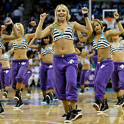 April 11, 2011; New Orleans, LA, USA; New Orleans Hornets Honeybees dancers perform during a game against the Utah Jazz at the New Orleans Arena. The Jazz defeated the Hornets 90-78.  Mandatory Credit: Derick E. Hingle