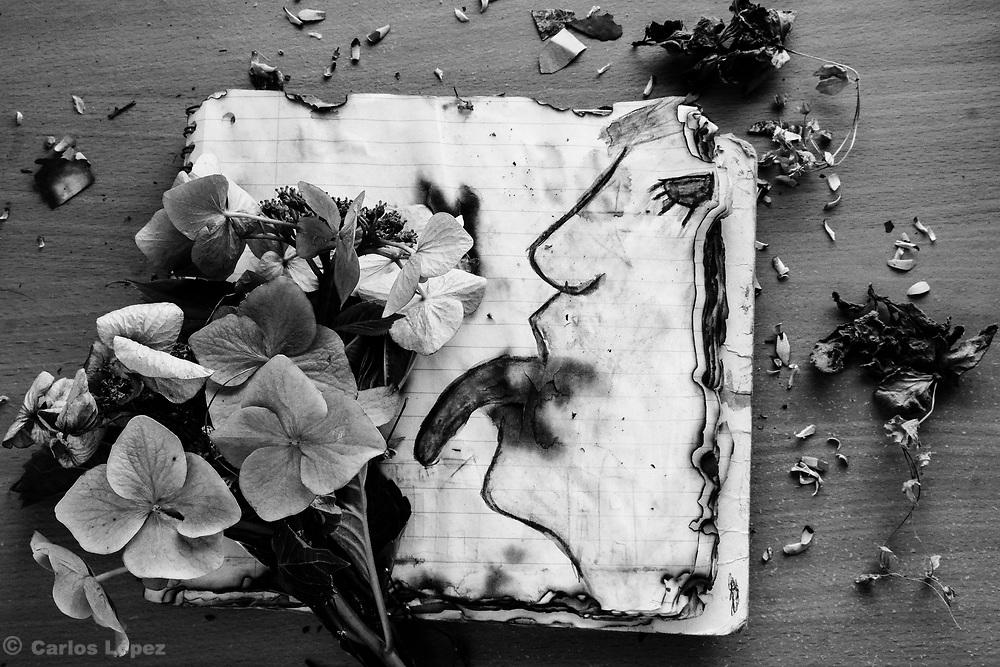 Burned stories 832-Edit.tif Photograph from the series: The Solitude of delirium.<br /> By Carlos López.<br /> Fotografía de la serie: La soledad del deliro.