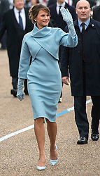 First Lady Melania Trump walk in the inaugural parade after President Trump was sworn-in as the 45th President in Washington, D.C. on January 20, 2017. Photo by Kevin Dietsch/UPI