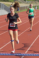 Central Valley, New York - Sydney Johnson finishes the Woodbury Country Ramble race on Aug. 26, 2012.