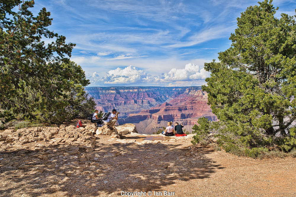 Yaki Point, Grand Canyon National Park, Arizona, USA.Tourists Enjoying the view.
