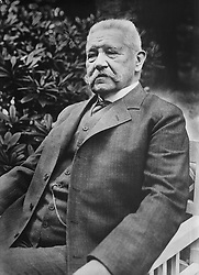 November 28, 2016 - Paul von Hindenburg, President of Germany, Portrait, Bain News Service, May 1927 (Credit Image: © Circa Images/Glasshouse via ZUMA Wire)