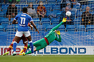 Goal scored by Kristian Dennis of Chesterfield  during the EFL Trophy match between Chesterfield and Bradford City at the b2net stadium, Chesterfield, England on 29 August 2017. Photo by Paul Thompson.