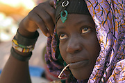 Bella merchant at weekly Gorom Gorom market, Northeastern Burkina Faso.