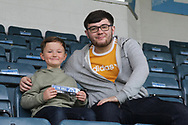 A young Rochdale fan proudly shows his Rochdale lorry during the EFL Sky Bet League 1 match between Rochdale and Gillingham at Spotland, Rochdale, England on 23 September 2017. Photo by Daniel Youngs.