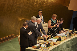 September 13, 2016 - New York, New York, United States - Ambassador Peter Thomson of Fiji, President of its seventy-first session of the United Nations General Assembly delivers opening words at first session. (Credit Image: © Mark Joseph Sullivan/Pacific Press via ZUMA Wire)