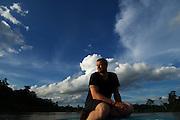 "Andrew ""Freddie"" Flintoff in Borneo, Sungai Kinabatangan Rainforest, Sabah, Malaysia"