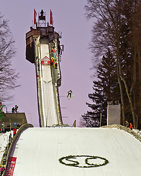 05.02.2011, Heini Klopfer Skiflugschanze, Oberstdorf, GER, FIS World Cup, Ski Jumping, Finale, im Bild Heini Klopfer Skiflugschanzenturm mit Gregor Schlierenzauer (AUT), during ski jump at the ski jumping world cup in Oberstdorf, Germany on 05/02/2011, EXPA Pictures © 2011, PhotoCredit: EXPA/ P. Rinderer