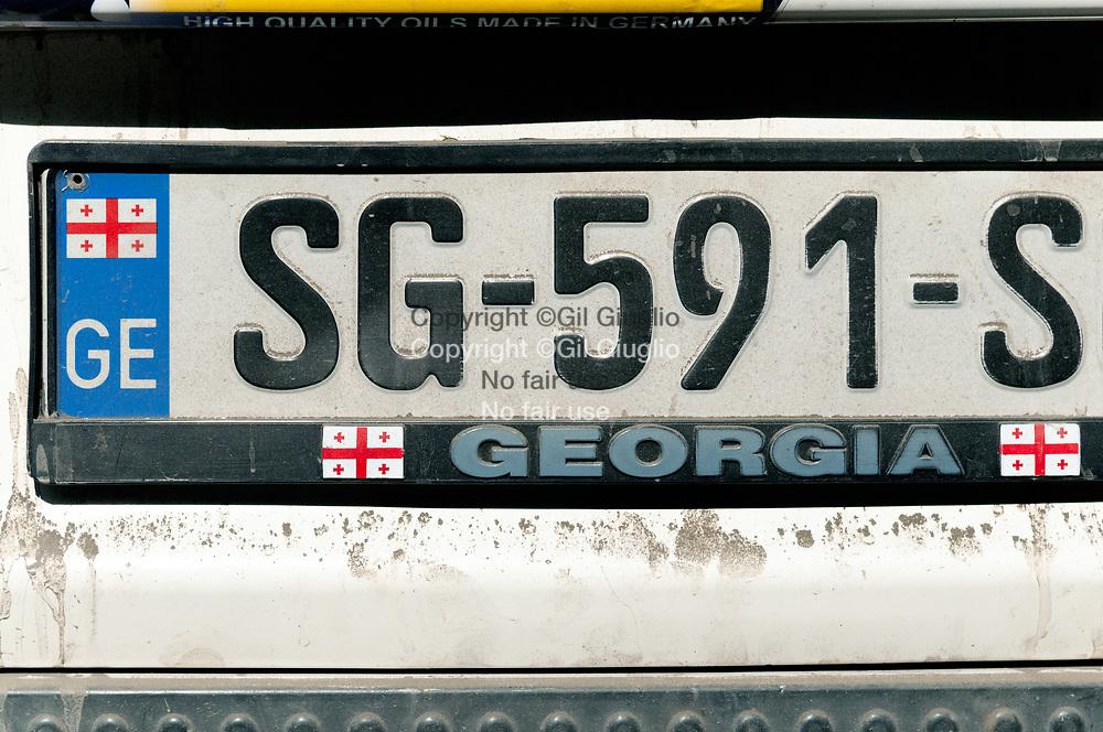 Georgie, région Touuchetie, plaque immatriculation véhicule local // Georgia, Tucheti region, registration plate of local vehicle